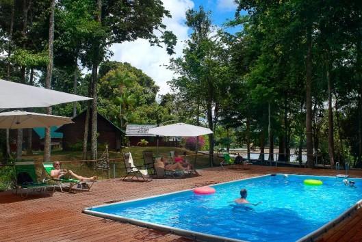 zwembad van Danpaati River Lodge