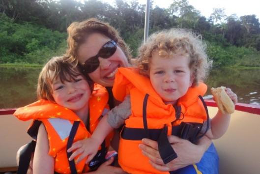 op de boot bij Bloemendaal