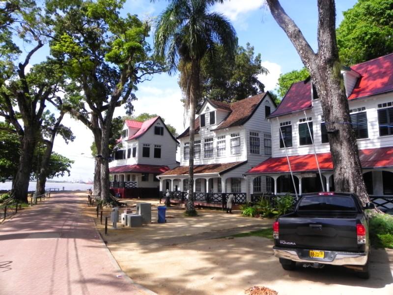 huizen palmen paramaribo