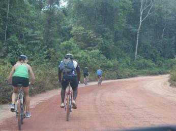 fietsen bos