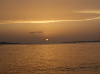 zonsondergang dolfijnen trip suriname