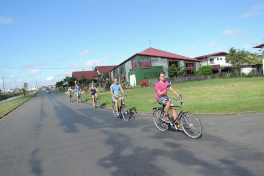 fietsen in suriname commewijne