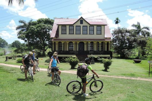 fietsen in suriname plantage
