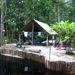 suriname palulu camping hangmattenhut