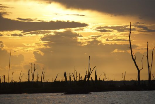 zonsondergang bigi pan suriname